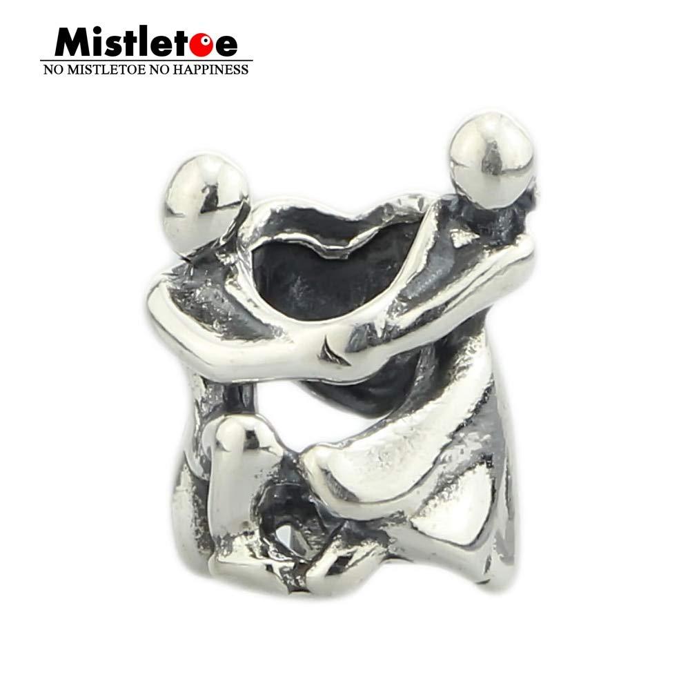 Calvas Genuine 925 Sterling Silver Marry Me Charm Bead Fits European 3.0mm Bracelet Jewelry Not Fit 3.5mm Bracelet