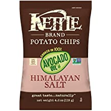 Kettle Brand Potato Chips, 100% Avocado Oil, Himalayan Salt, 4.2 Ounce (Pack of 15)