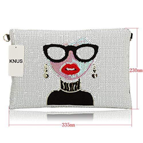 Leather Purse Handbag KNUS Bag Oversized Designer for Womens Evening Wristlet Clutch Ladies Large UwYv6Bwq