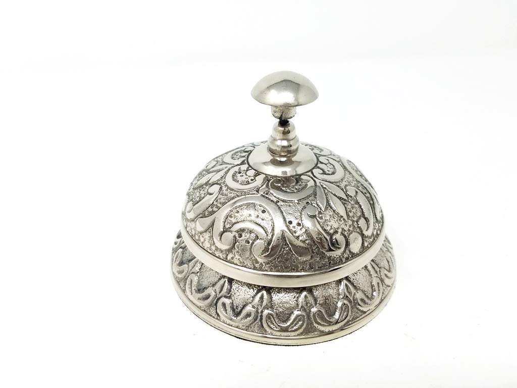 Buddha4all Call Bell Ideal Gift for Home Office, School, Teacher, Nautical, Aluminium Desk Bell Hand Held Service Call Bell 5'' Aluminium Call Bell