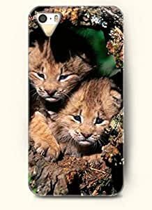 OOFIT phone case design with Two Hungry Cub Tiger for Apple iPhone 4 4s