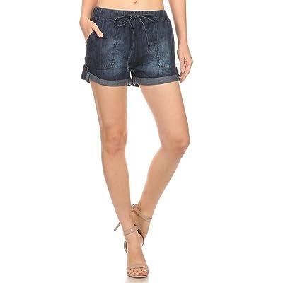 2ND DATE Women's Denim Drawstring Waist Shorts