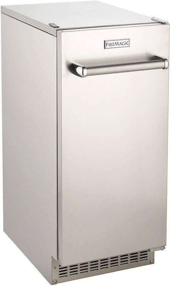 Fire Magic 63 Lb. 15-inch Outdoor Rated Ice Maker With Gravity Drain - 3597