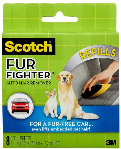 Scotch Fur Fighter Pet Hair Remover Refill, 8-Pack (879RF-8), My Pet Supplies