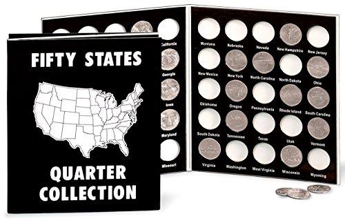 Commemorative State Quarters Black White Album Commemorative Collection