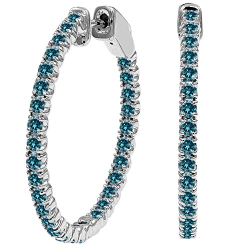 4.25 Carat Blue Diamond Hoop H