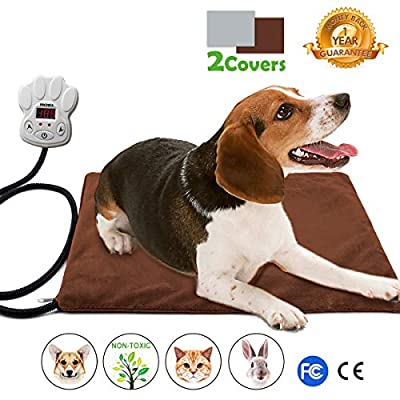 Nuoyo Pet Heating Pad, 7-Level Controller DC12V Safe Electric Dog Cat Heating Blanket Waterproof Pet Warming Mat by NuoYo