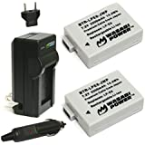 Wasabi Power Battery 2-Pack and Charger for Canon LP-E8 and Canon EOS 550D, E...