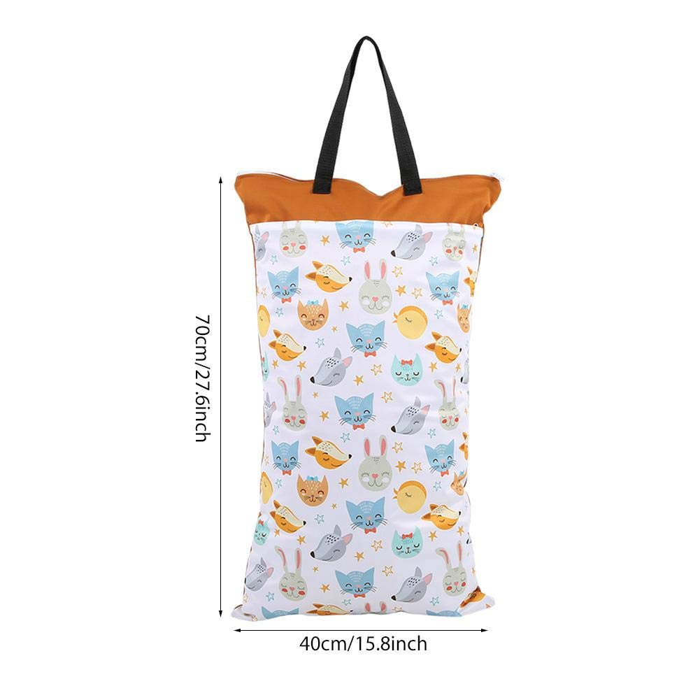 #4 Diaper Bag Waterproof Large Capacity Hanging Wet Dry Cloth Baby Inserts Nappy Laundry Storage Bag for Newborn Infants
