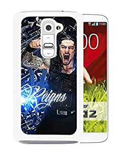 AZE Beautiful Fashion Wwe Superstars Collection Wwe 2k15 Roman Reigns 04 White Case Cover For LG G2