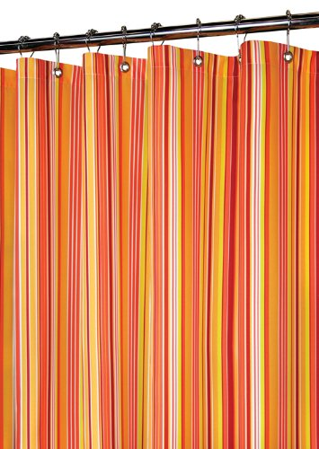 Park B. Smith Strings Stripe Shower Curtain, Tangelo (Smith Curtain Watershed Shower)