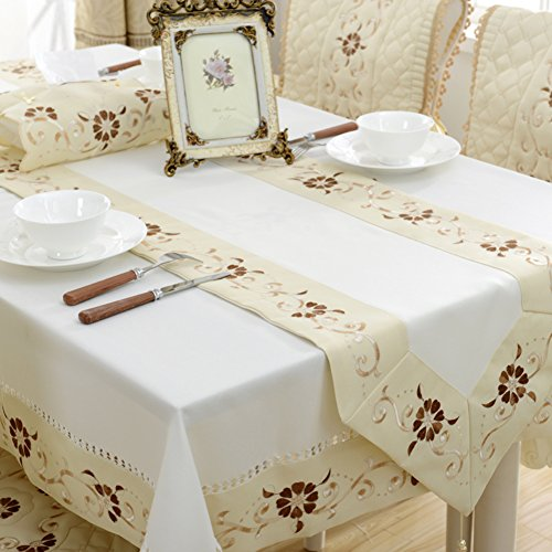 Table Cloths European style, fabric seat cover upholstery kit,tian tablecloth,rectangular embroidered tablecloth,living room pulled back,tea A 40x220cm(16x87inch)
