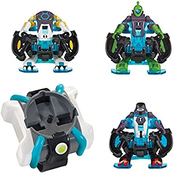 Ben 10 Omni-Launch Battle Figures- Omni-Enhanced Four Arms, Cannonbolt & Wildvine
