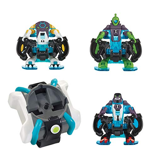 (Ben 10 Omni-Launch Battle Figures- Omni-Enhanced Four Arms, Cannonbolt & Wildvine)