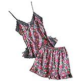 Women Sexy Lingerie Lace Babydoll Nightwear Bodysuit Bralette Bra and Panty G-String Underwear Set (M, Gray)