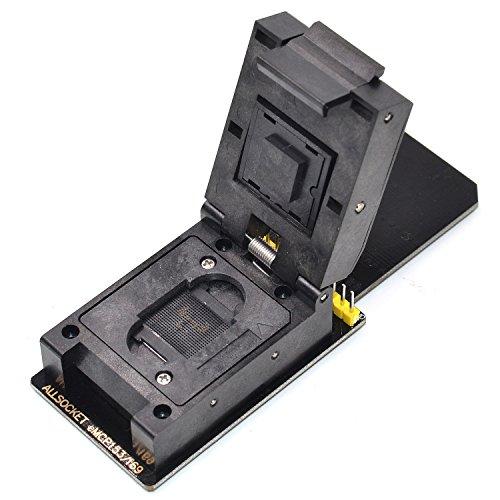 ALLSOCKET New BGA153 SD Reader eMMC153/169 Adapter Programmer Socket FBGA153/169 Ball for Samsung Toshiba Kingston Skhynix NAND FLASH Memory Reading/Writing (Black-SD Adapter)