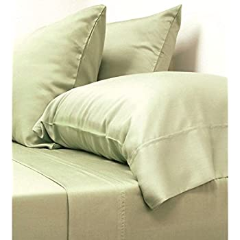 Classic Bamboo Sheets by Cariloha - 4 Piece Bed Sheet Set - Softest Bed Sheets and Pillow Cases - Lifetime Protection (King, Sage)