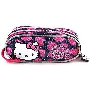 Hello Kitty 23763 - Estuche de lápices redondo, color azul ...