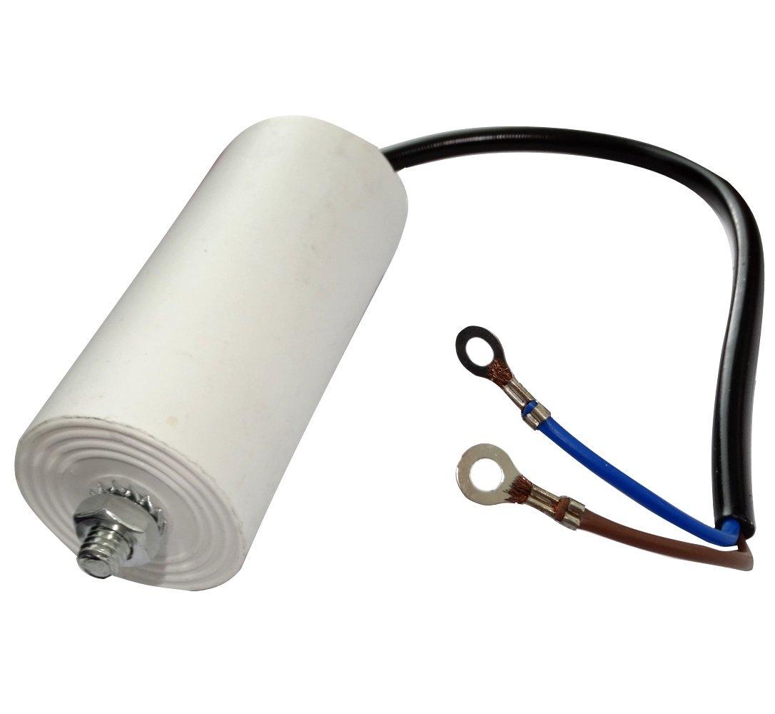 Aerzetix: Condensateur permanent de travail pour moteur 30µF 450V précâblé Ø45x95mm ±5% 3000h C18687 C18687-AL676