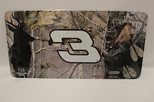 Dale Earnhardt NASCAR Realtree Metal License Plate - Realtree Metal