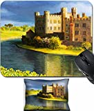 MSD Mouse Wrist Rest and Small Mousepad Set, 2pc Wrist Support design 15339528 Famous Castle near Leeds in Kent painted on the canvas by me Kiril Stanchev
