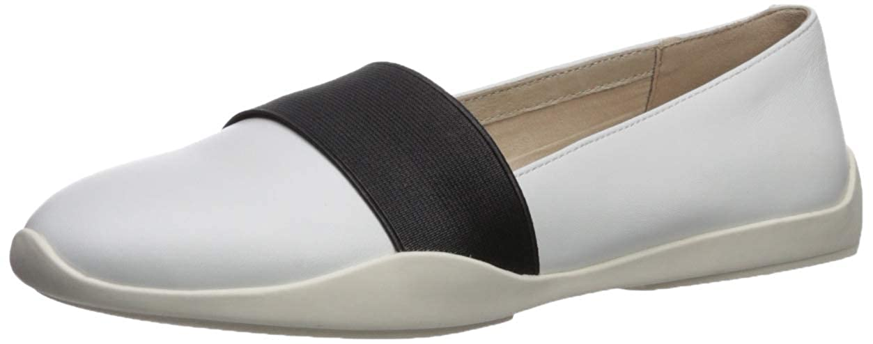 White Kenneth Cole New York Womens Vida Elastic Slip on Sneaker Sneaker