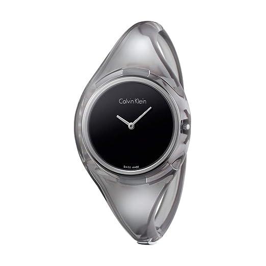 Calvin Klein - Reloj de Pulsera para Mujer, Color Negro: Amazon.es: Relojes