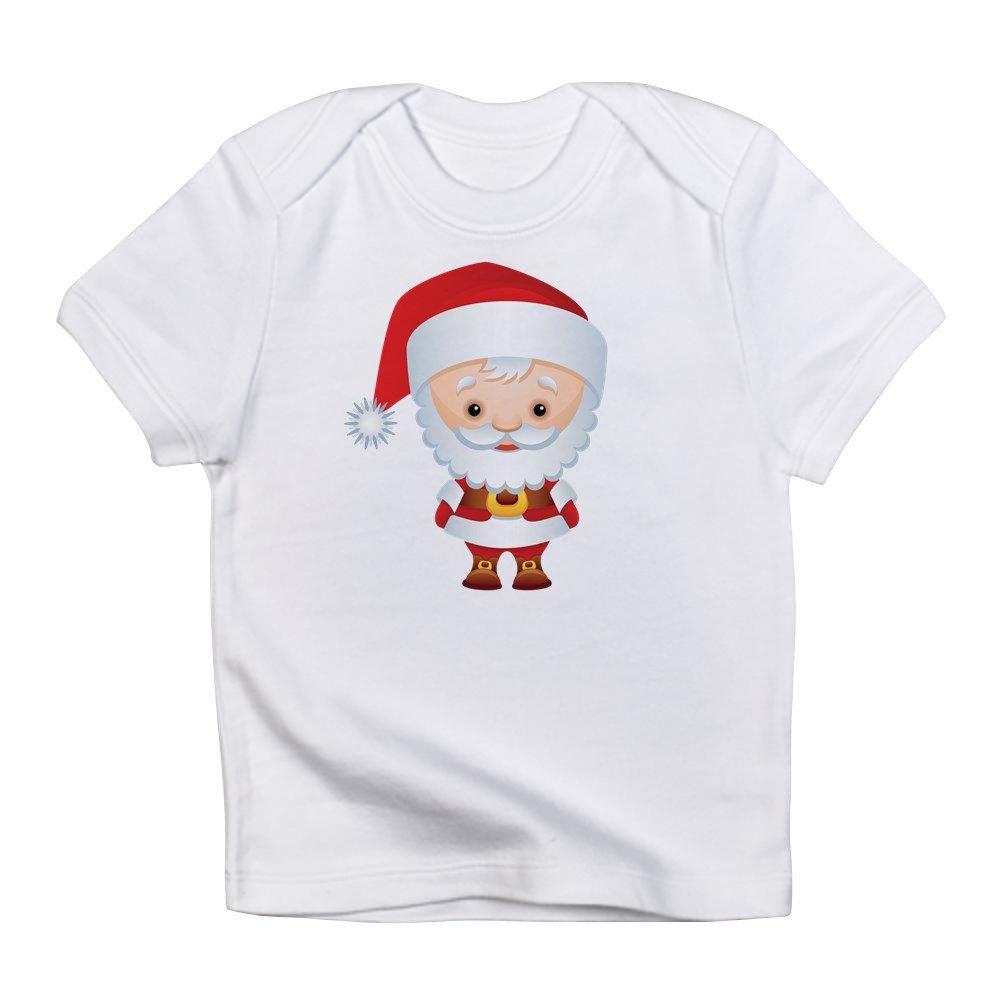 0 To 3 Months Cloud White Truly Teague Infant T-Shirt Christmas Cuties Santa Claus