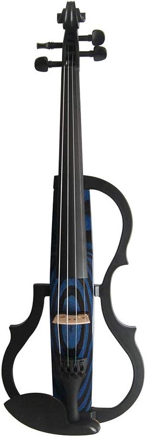 QING.MUSIC Stringed instrument Advanced Electric Violin 4/4 Violines eléctricos Accesorios de Rendimiento Profesional: Estuche, Arco, Resina, Cuerdas, Auriculares,N009: Amazon.es: Deportes y aire libre
