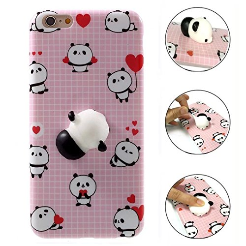 Case For iphone 4/4S, QKKE 3D Poke Squishy Cat Seal Panda Polar Bear Squeeze Stretch Compress Stress Reduce Relax Soft Silicone Relief Case for iphone 4/4S (Panda)