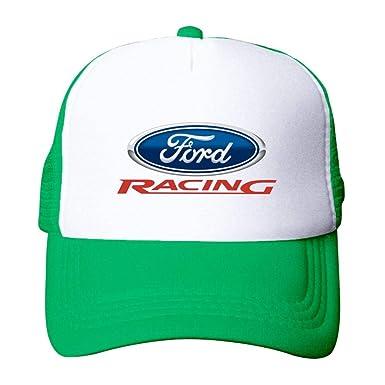 Amazon.com  Ford Racing Car Logo Unisex Mesh Baseball Cap Adjustable ... 9c20f2d2520