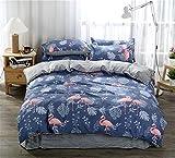 Bedding Set of 4pcs Home Accessories Flannelette Duvet Cover Queen King Size Grils Boys Bedroom Decor 7890inch (200x230cm)