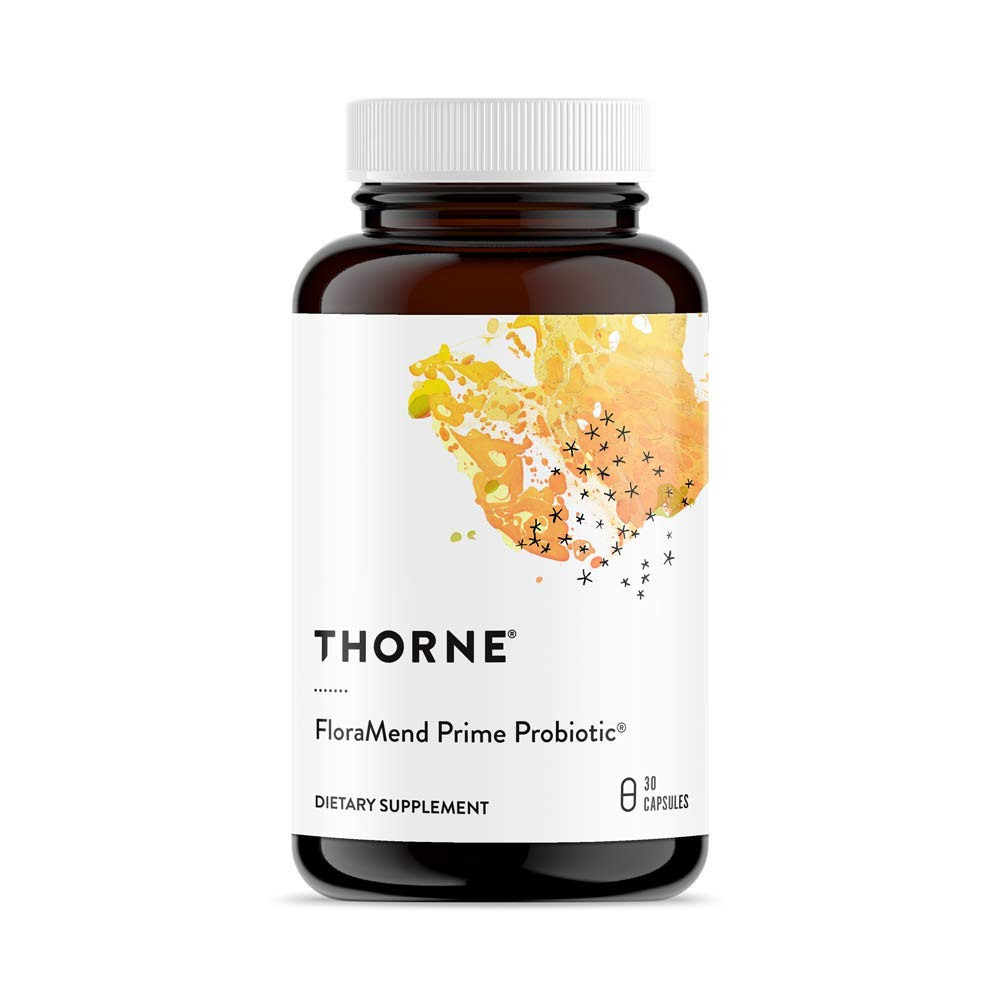 Thorne Research - FloraMend Prime Probiotic - Shelf Stable and Stomach Acid-Resistant Probiotic Blend - 30 Capsules
