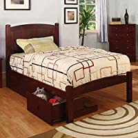 247SHOPATHOME Idf-F7903CH-DR Childrens-Bed-Frames, Full, Walnut