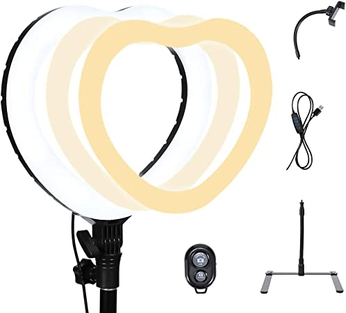 YAYONG LED Photography Ring Light 6//10inch with Tripod Selfie Lighting Photo Adjustable Remote Control Makeup Dimmable 5500K