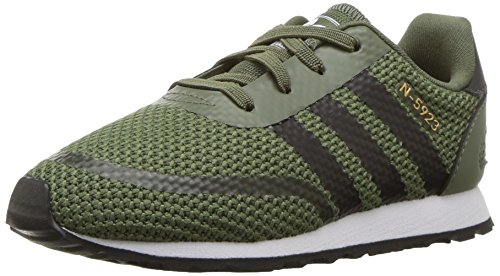 3d8365e86a2 Galleon - Adidas Originals Baby N-5923 EL I Sneaker, Base Green, Core  Black, FTWR White, 6K M US Toddler