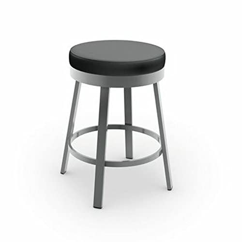 Amisco Clock Swivel Metal Counter Stool