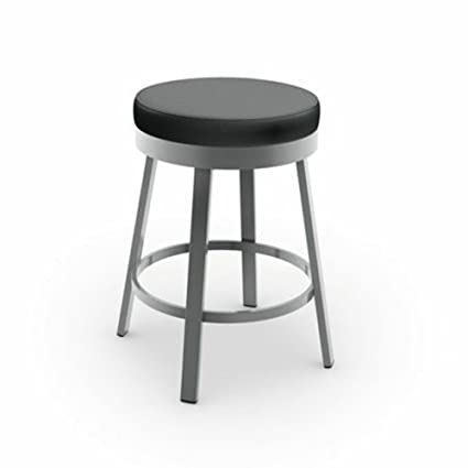 Amazoncom Amisco Clock Swivel Metal Counter Stool 26 Inch Grey