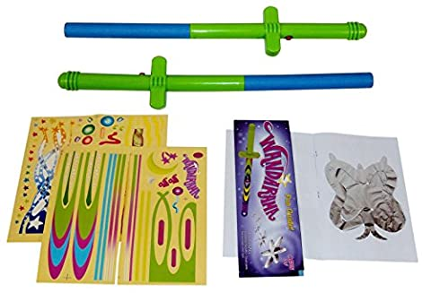 Flying Toy Wand. Magic Wand Levitation Stick with Flying Toy Shapes - Set of 2. Cheap Toys For Fun, Cool Toys For (Carpet Static)