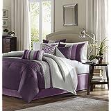 Madison Park Amherst 7 Piece Comforter Set, King, Purple
