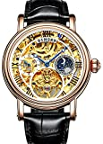 Best Binger Automatic Watches - Men Skeleton Dial Tourbillon Water Resistant Stainless Steel Review