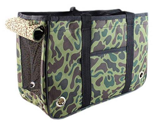 EOZY-Borsa Viaggio per Cana e Gatto Pacchetto Pet Borsetta Animale Domestico (Lunghezza 50cm, Camouflage Verde Esercito)