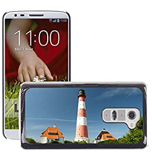 Hot Style Cell Phone PC Hard Case Cover // M00169670 Lighthouse Westerhever North Sea // LG G2 D800 D802 D802TA D803 VS980 LS980