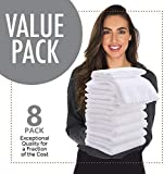 """8 Pack Large Burp Cloths for Baby - 20"""" by"""