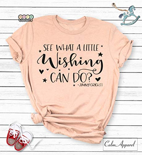 See What a Little Wishing Can Do T-Shirt, Womens Unisex V-Neck Shirt