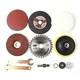 OriGlam 8PCS Cutting and Grinding Wheel Saw Blade Disc, Transfer Shaft Dremel Tool for Drills Power Tool