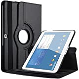 Galaxy Tab 4 10.1 Case, EnGive 360 Degree Rotating Folio Smart PU Leather Cover Case for Samsung Galaxy Tab 4 10.1 SM-T530 T531 T535 (Black)