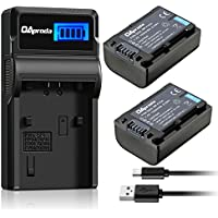 OAproda 2 Pack NP-FV50 Batteries and Fast LCD Display USB Charger for Sony NP-FV50, NP-FV70, NP-FV100 and HDR-CX380, HDR-CX430V, TD30V, HDR-CX260V, HDR-CX900, DCR-SR, DCR-SX, HDR-CX, HDR-XR Series