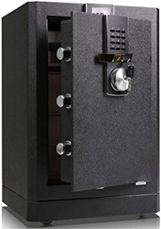 Caja Fuerte Caja fuerte de seguridad digital, seguridad Key Lock doble y contraseña, especial propia de bloqueo interior Caja de Seguridad Gabinete Cajas Fuertes (Color : Black , Size : 36x41x62cm) : Amazon.es: Hogar
