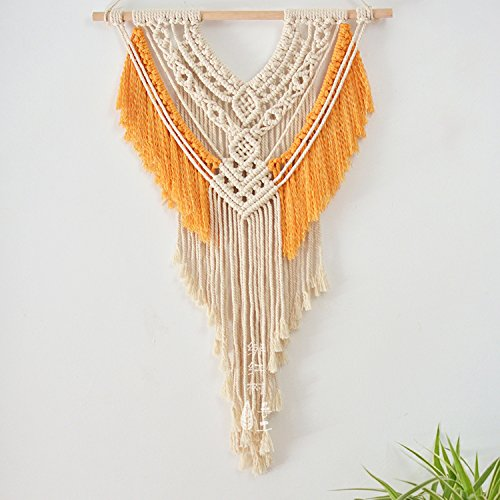 Macrame Wall Hanging Tapestry Hand Woven Boho 18''WX27.6''L Macrame Decoration House Ceremony Living Room Home Furnishing Accessories by Vesna Wall Art (Image #2)